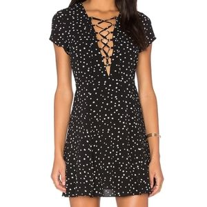 "WYLDR star print lace up ""Goldie"" dress"